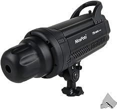 Fomito Nicefoto TB-300C 300W Luz de Flash de Estudio compacta Luz estroboscópica Cabeza de lámpara Tiempo de Reciclado rápido 0.1-0.7s Pantalla LED para fotografía de Estudio