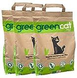 Greencat lettiera per gatti a base d'orzo (3 x 6 litri)...