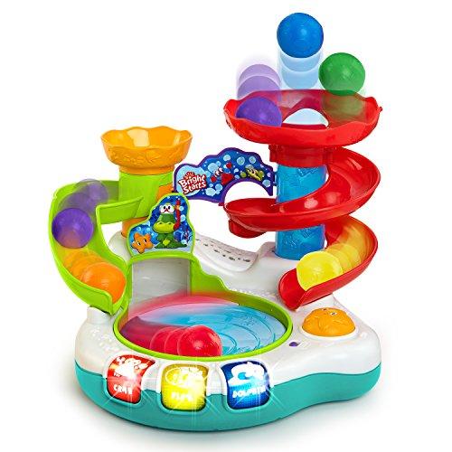 Bright Starts, Spin 'n Slide Ball Popper, Ballspielzeug mit Lichtern, Melodien und 3 leuchtenden Tasten