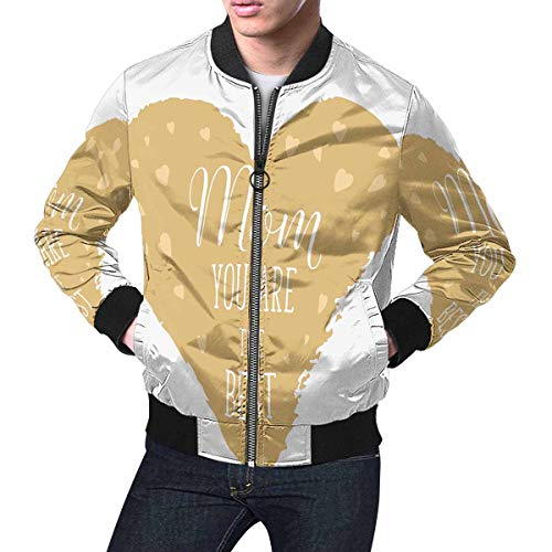 INTERESTPRINT Men's Lightweight Jacket Windbreaker Happy Mothers's Day, Mom Your are The Best.Png XS