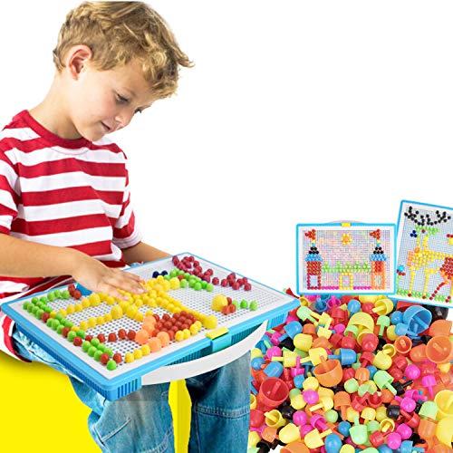 RUIXIB Kinder Puzzle Mosaik Bausteine Steckspiel Pädagogisches Spielzeug...