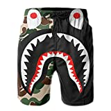 Oular Bape Blood Shark Beach Pants Swim Trunks Shorts Summer for...