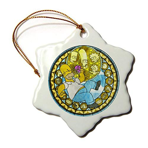Ceramic Ornament Homer Simpson Kingdom Hearts Hexagon Keepsake Xmas Holiday Tree Decoration Birthday Gifts
