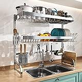 3 Tier Over Sink Dish Drying Rack, Boosiny Adjustable...