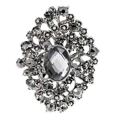 iTemer Broches de bisuteria para ropa y zapatos Pin para solapa Un hermoso regalo Corpiño de traje Metal Silver Regalo de moda 1 artículo
