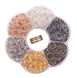 YAKA 900Pcs 10mm1Box 6 Colors Open Jump Ring,Ring Jewelry Keychain for Jewelry Making Accessories,1Pcc Jump Ring Open/Close Tool and 1Pcs Clear Box (0.39'/10mm)
