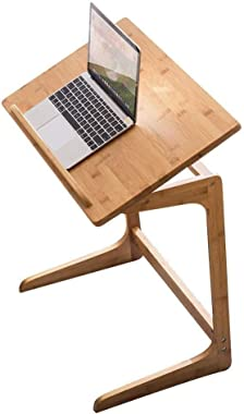 Laptop Table Side Table Desk End Bedside Bamboo Laptop Stand for Desk Home Bedside Sofa Table Desk Coffee Table The Desktop Can Be Tilted , Room Coffee Table FENPING (Color : Wood, Size : 604065)