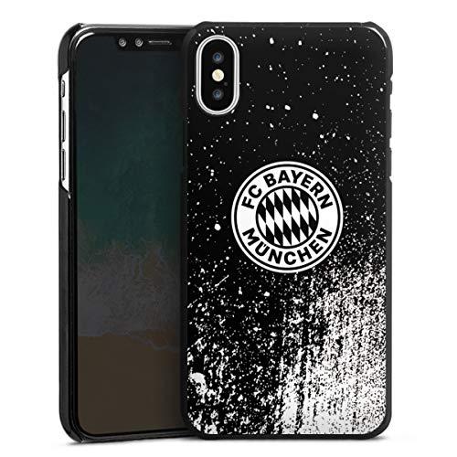 DeinDesign Hard Case kompatibel mit Apple iPhone X Schutzhülle schwarz Smartphone Backcover FC Bayern München Offizielles Lizenzprodukt FCB