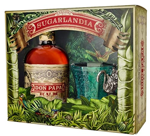 Don Papa 0,7 Liter 40% Vol. Geschenkset mit Glas