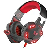 BENGOO Gaming Headset Comfortable 3.5mm Stereo Over-ear Headphone Headband with LED Lighting
