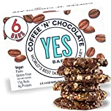 The YES Bar  Coffee 'N' Chocolate  (6Count) Plant Based Protein, Decadent Snack bar  Vegan, Paleo, Gluten Free, Low Sugar, Healthy Snack, Breakfast, On-The-Go, for Kids & Family