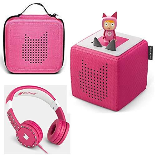 Toniebox Starterset Pink + Ordnungsbox für viele Tonies + Kinderkopfhörer Tonie-Lauscher