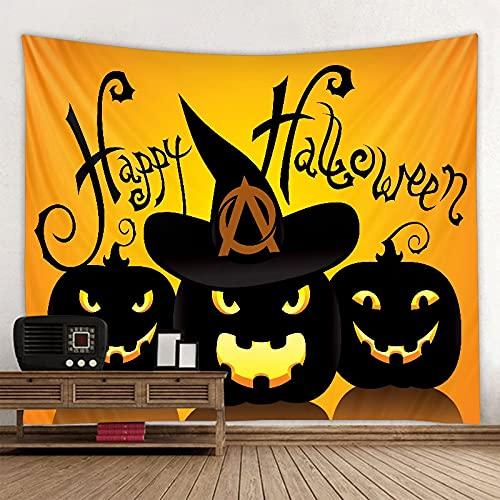 Nuevo tapiz de halloween tapiz psicodélico sala colgante alfombra dormitorio tapiz decoración del hogar arte tela colgante A2 100x150cm