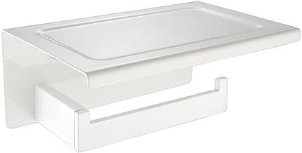 CASEWIND Toiletrolhouder met plank, witpapierhouder, wandgemonteerde smarttelefoonplank voor keuken WC SUS 304 roestvrij s...
