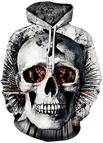 FRAUIT Herren 3D Druck Hoodie Sweatshirt Kapuzenpullover Grafik Langarm Pullover Top Jumper (M, Schwarz4)