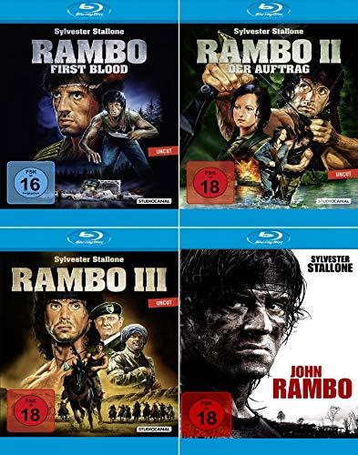 Rambo 1 + 2 + 3 + 4 (4 BLU RAY Set) - John Rambo
