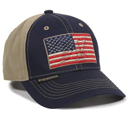 Outdoor Cap Unisex Kappe mit amerikanischer Flagge, für Erwachsene, Marineblau/Khaki, für Erwachsene
