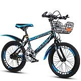Xi Man Shop Bicicleta para niños Bicicleta de montaña Bicicleta de niño Bicicleta de niña 18〃/20〃/22〃 (Color : Blue, Size : 18in)