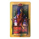 Fishawk Tarot,Juego de Cartas del Tarot,Baraja de Tarot 78 Cartas,Bonita Baraja de Tarot para Principiantes,Baraja de Cartas Tarot,Tarjetas de Juego Adivinación Destino,Tarjetas de Papel Holograma,
