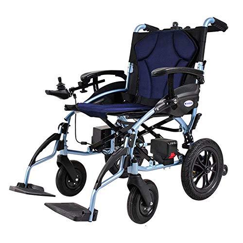 Inicio Accesorios Ancianos Discapacitados Silla de ruedas eléctrica Inteligente Automático Aleación de aluminio Discapacitados Ancianos Scooter Plegable Peso 120Kg (Puede Controlarse Antes y Despué