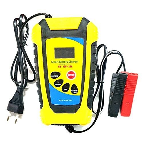 PPGE Home Arrancador de Baterias de Coche Portátil 12V/24V Cargador de Baterías LCD con Múltiples Protecciones para Automóvile,Motocicleta,ATV,RV,Barco