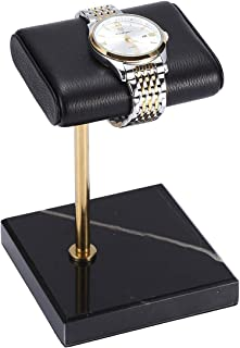 ROSELLE -The Watch Stand with Natural Marble base and Finest Handcrafted Calfskin Leather|Watch Display Stand| Watch Acces...