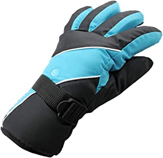 Ski gloves Outdoor sports ski gloves, waterproof cotton men's winter cold and wind ski gloves, cold snow hiking gloves For...