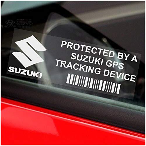 test 5xPP Suzuki GPS-Sicherheitsaufkleber für GPS-Gerätefenster 87 × 30 mm, alter Jimny, Swift, Ignis Auto, Van… Deutschland