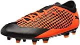 PUMA Unisex-Kid's Future 2.4 FG/AG Jr Soccer Shoe, Black-Shocking Orange, 4.5 M US Big Kid