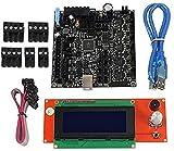 JJDSN Impresora 3D Rambo 1.4 Placa Base integrada + 2004LCD Kit de Placa de Control Principal de Pantalla para Lulzbot Taz6