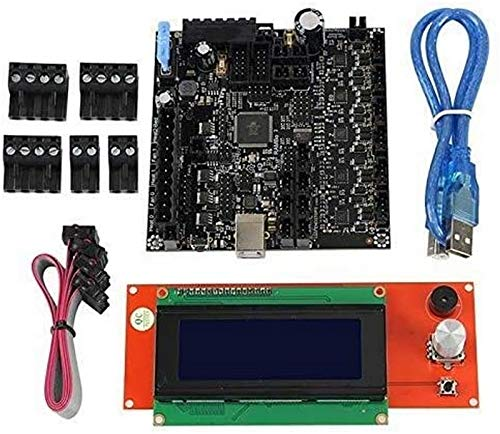 JJDSN 3D Printer Rambo 1.4 Motherboard Integrated Board +2004LCD Screen Main Control Board Kit for Lulzbot Taz6