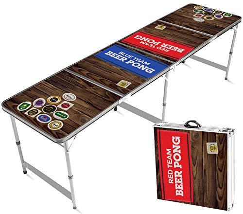 Table Beer Pong Officielle Team Red & Blue   Qualité Premium   Dimensions Officielles   Etanche et Résiste aux Rayures   Jeu de Soirée et Apéro   Jeu à Boire   Créée par OriginalCup®