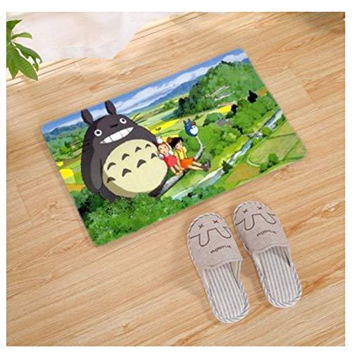 Alfombra Rectángulo Hogar Dormitorio Alfombra De Cabecera Sala De Estar Tatami Alfombrilla De Puerta Dibujos Animados Anime Mi Vecino Totoro Patrón Alfombra Antideslizante Simple Moderna