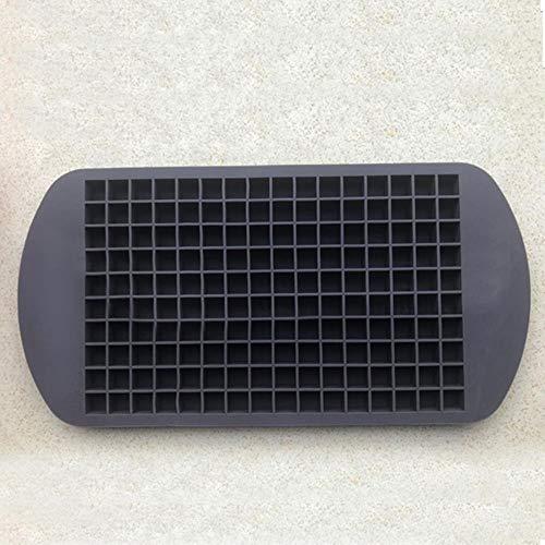 160 Grids Forme carrée Silicone Ice Plateau Bricolage Creative Mini Ice Cube Mould Fruit Ice Cube Maker Bar Accessoires 24 * 12cm, Noir, Chine