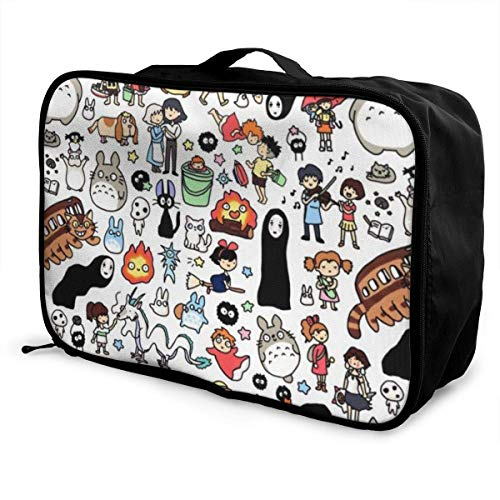 Anime My Neighbor Spirited Away Travel Lage Duffel Bag for Women Men Kids, Waterproof Large Bapa Caity Lightweight Suitcase Portable Bags
