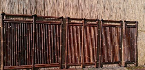 Bambuszaun Gartenzaun Bambus Sichtschutzzaun Sichtschutzwand Bambus Jawa (Bambus, 90 cm)