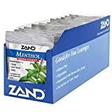 Zand HerbaLozenge Menthol | Peppermint & Eucalyptus Lozenges w/Herbal Blend for Soothing Throat | No Corn Syrup, No Cane Sugar (12 Bags, 15 Lozenges)