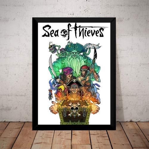 Quadro Game Sea Of Thieves Arte Poster Com Moldura