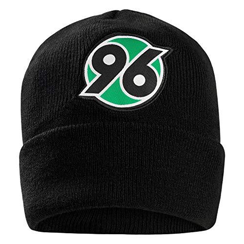 Hannover 96 Wintermütze Classic, Beanie schwarz mit Logo, Mütze H96 - Plus Lesezeichen I Love Hannover