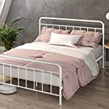 ZINUS Florence Metal Platform Bed Frame / Mattress Foundation / No Box Spring Needed / Easy Assembly, White, Full
