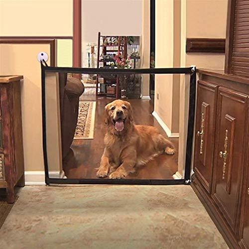 Barrera para mascotas Puerta de perro Puerta de aislamiento Neto Plegable Malla seguro Guardia de seguridad Caja de seguridad Cerca de perro Protección para el hogar Suministros de separación de masco