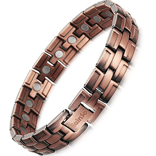 RainSo Copper Magnetic Therapy Bracelet Pain Relief for Arthritis