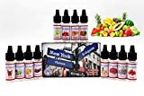 E-Líquido, 12 X 10mL E Liquido NY FLAVORS Vaper Sin Nicotina, E-Liquid VG60/PG40, Set E-Líquido Para Cigarrillos Electrónicos/E Shisha/E Hookah | Nuevos Sabores