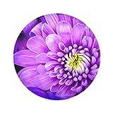 Zemivs Set di 4 tovagliette Rotonde riutilizzabili Tovagliette Colorate con Fiori di crisantemo per Ragazzi Tovagliette da Pranzo 15,4 Pollici Facile da Pulire per Cucina Tavolo da Pranzo Fest