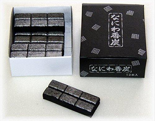 ハセガワ仏壇 焼香炭 [なにわ香炭] 12本入 焼香用