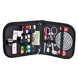 Hellery 68Pcs Kit de Costura Starter Enhebrador de Coser Herramienta de Coser de Viaje en Casa con Bolsa de Almacenamiento