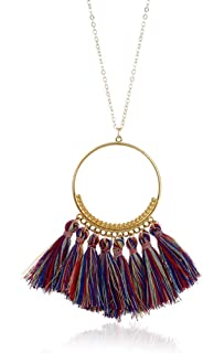 Welcometoo Long Tassel Necklace for Women Vintage Necklace Boho Bohemian Necklace Ethnic Vintage