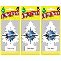 Little Trees リトルツリー エアフレッシュナー 芳香剤 トゥルーノース 6枚組 ×3パック[並行輸入品] (18)