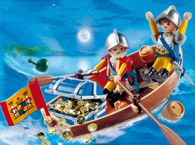 PLAYMOBIL® 4295 - Piraten - Schatztransport im Ruderboot
