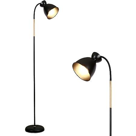 Anten Giraffe | Lampadaire Sur Pied Pivotant Noir | Douille E27 MAX 60W | Hauteur 159CM | Lampe Sur Pied De Salon Chambre | 1 1 Ampoules | Lampadaire rétro en métal | Sans Ampoules